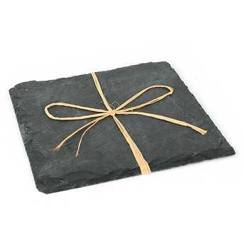 - 2 slate square plates