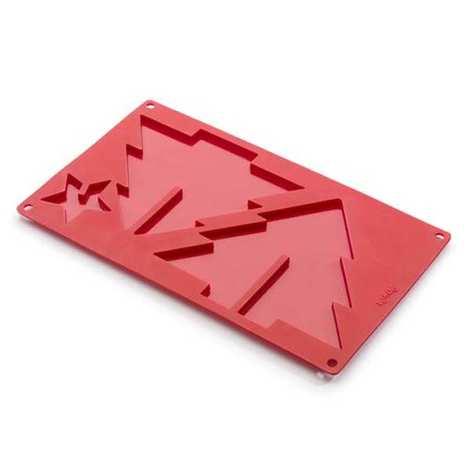 Lékué - Moule silicone sapin 3D avec étoile pour chocolat