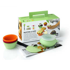 Lékué - Kit cuisine créative muffins et cupcakes pour enfants (Muffins&Kids)