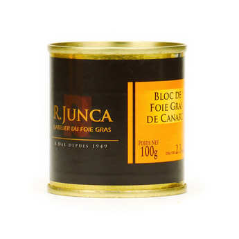 R. Junca - Block of Duck Foie Gras - Tin