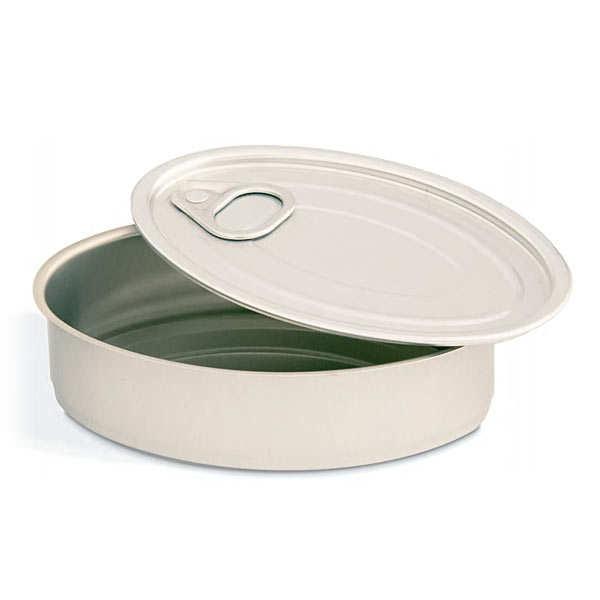 Tin can mini presentation dish