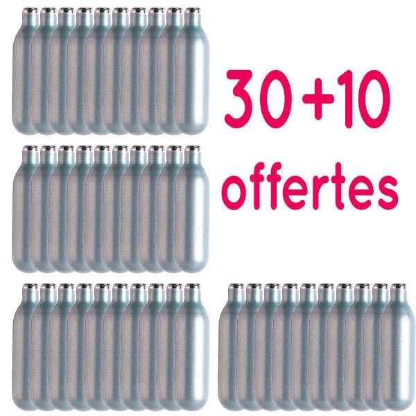 Lot de 30 Cartouches pour siphons Mastrad + 10 offertes - Pour chantilly