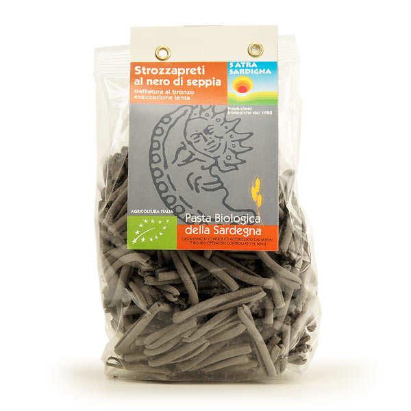 Organic pasta with black cuttlefish ink