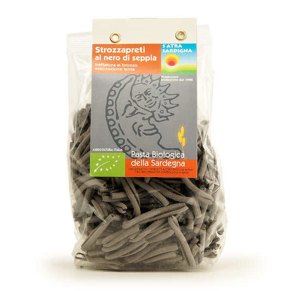Organic pasta with black cuttlefish ink