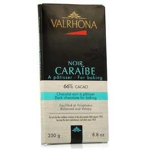Valrhona - Tablette de chocolat noir pâtissier Caraïbe 66% cacao - Valrhona