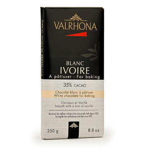 Valrhona - Bar of white cooking chocolate 35% cocoa - Valrhona