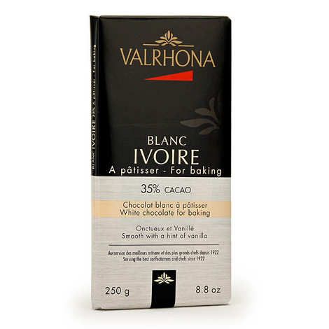 Valrhona - Tablette de chocolat blanc ivoire gastronomie 35% cacao - Valrhona