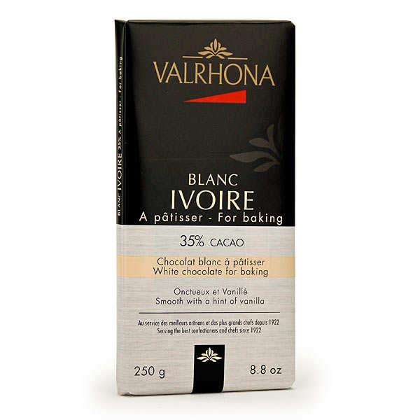 Tablette de chocolat blanc ivoire gastronomie 35% cacao - Valrhona