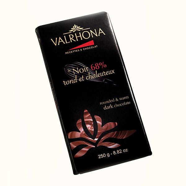 Tablette de chocolat noir gastronomie 68 cacao valrhona for 1 tablette de chocolat