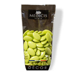 Dragées Médicis - Lime Green Dark Chocolate Dragées - 70% cocoa