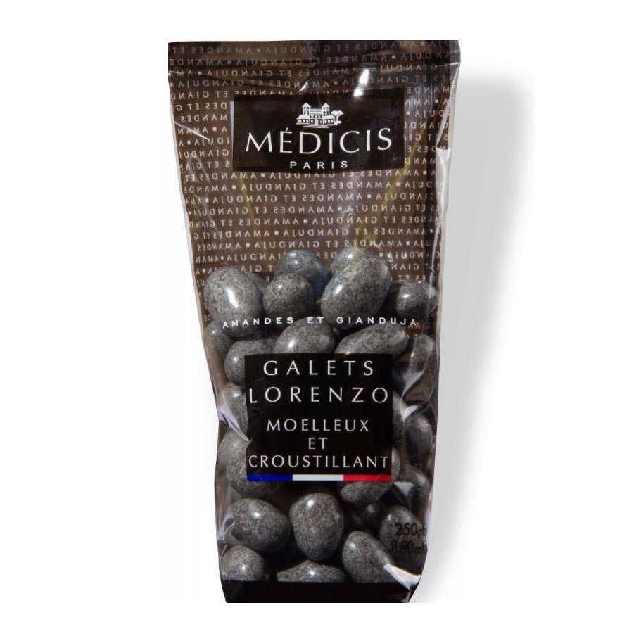 Galets Lorenzo gris granite - Dragées amande gianduja