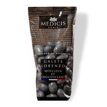 Dragées Médicis - Galets Lorenzo gris granite - Dragées amande gianduja
