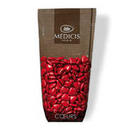 Dragées Médicis - Dragées petits coeurs rouges au chocolat au lait