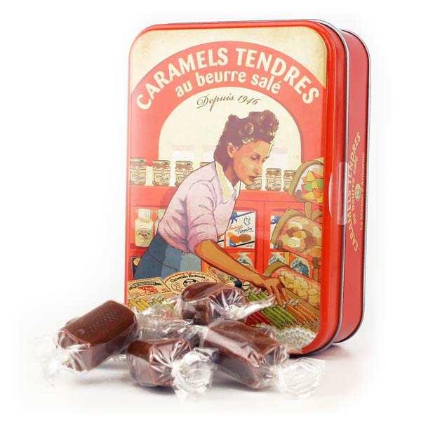 Caramels tendres au beurre salé - Boite fer collector