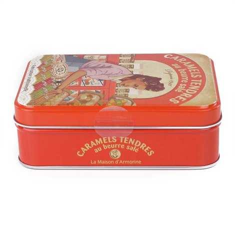 La Maison d'Armorine - Caramels tendres au beurre salé - Boite fer collector