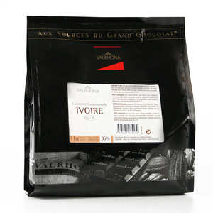 Valrhona - White baking chocolate Ivoire 35%