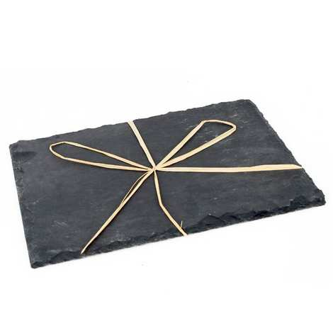 - Assiette ardoise rectangle 30x20cm
