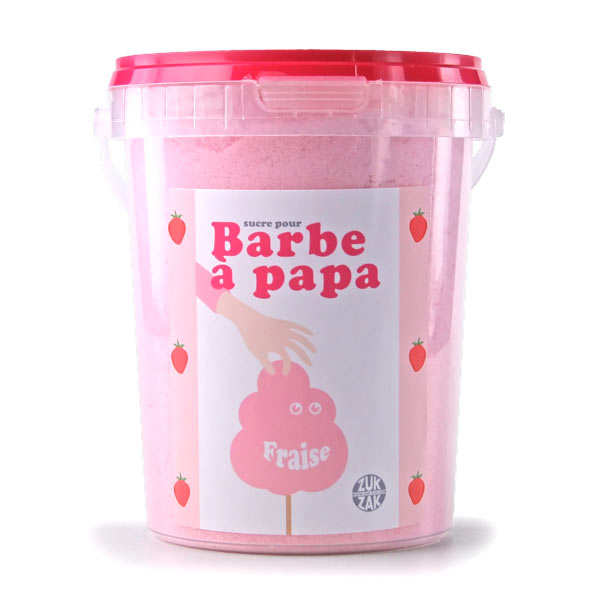 sucre pour machine barbe papa fraise zuk zak. Black Bedroom Furniture Sets. Home Design Ideas