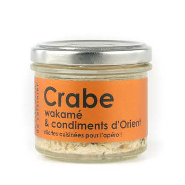Crab, wakame seaweed and orient spices spread