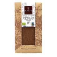 Bovetti chocolats - Tablette chocolat au lait Bio caramel fleur de sel