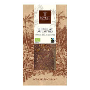 Bovetti chocolats - Organic milk chocolate with salted caramel