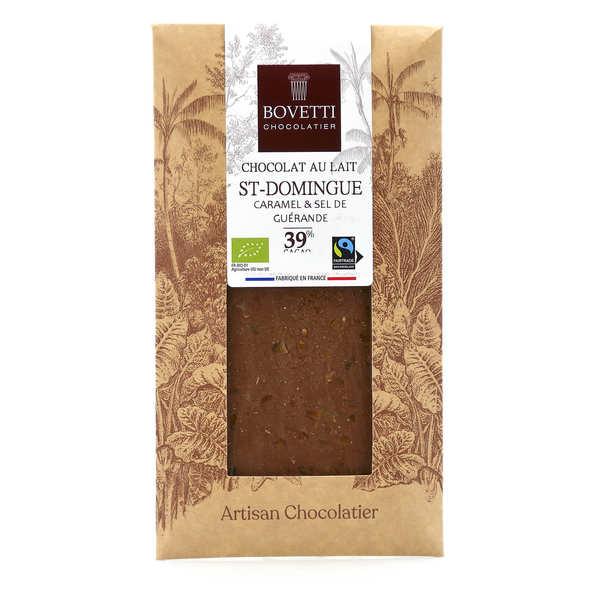 Tablette chocolat au lait Bio caramel fleur de sel