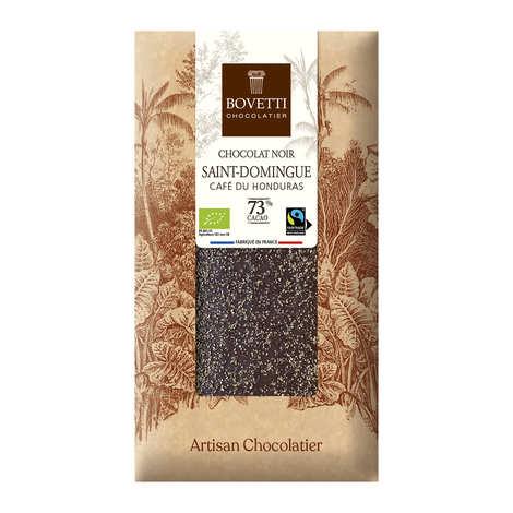 Bovetti chocolats - Organic Fairtrade Dark Chocolate Bar with Honduras Coffee