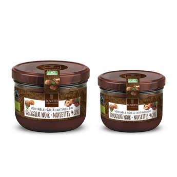 Bovetti chocolats - Véritable pâte à tartiner bio noisette chocolat noir sans huile de palme