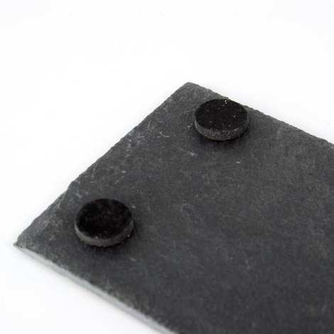 - 2 Plateaux ardoise rectangle avec patins