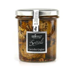 De Carlo - Petits artichauts grillés à l'huile d'olive - Carciofini Grigliati