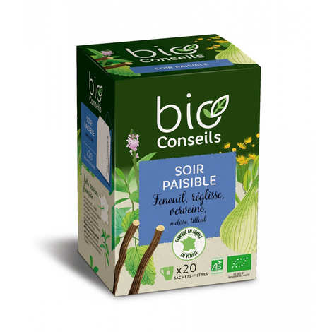 "Bio Conseils - Organic ""Quiet Evening"" Herbal Tea"