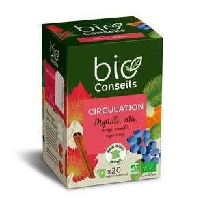 Bio Conseils - Infusion circulation Bio (Vigne rouge, myrtille)