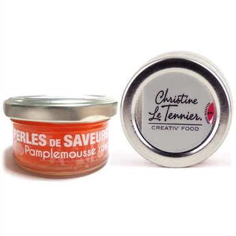 Christine Le Tennier - Perles de saveur au pamplemousse rose