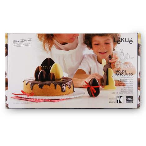 Lékué - Moule silicone 3D pour chocolat - Lapin et Oeuf