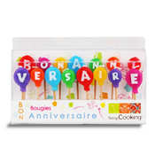 "ScrapCooking ® - ""Bon anniversaire"" birthday candles"