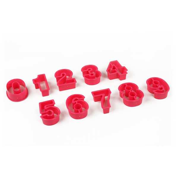 Plastic Number Cookie Cutters