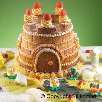 Silikomart - Moule à gâteau silicone grand château à décorer