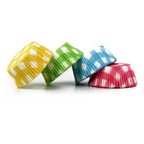 """Caissettes """"Vichy"""" pour cupcakes"""