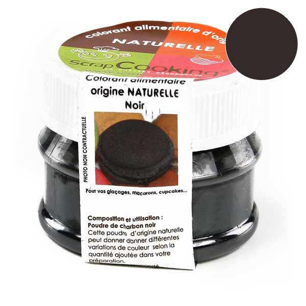 Carbon black powder for food