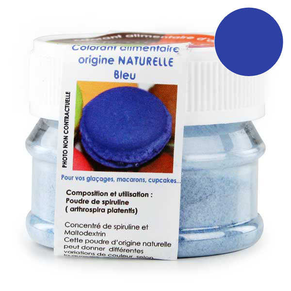 Naturally-sourced blue food colouring