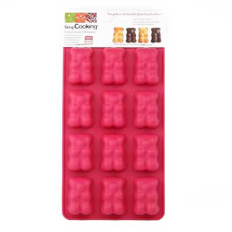 Silicone Teddy Bear Chocolate Mould Scrapcooking