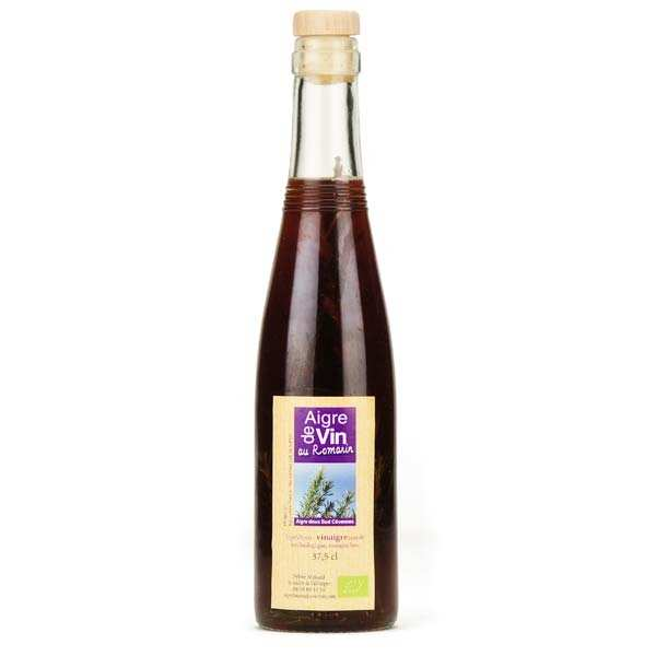 Vinaigre artisanal au romarin bio sans sulfites