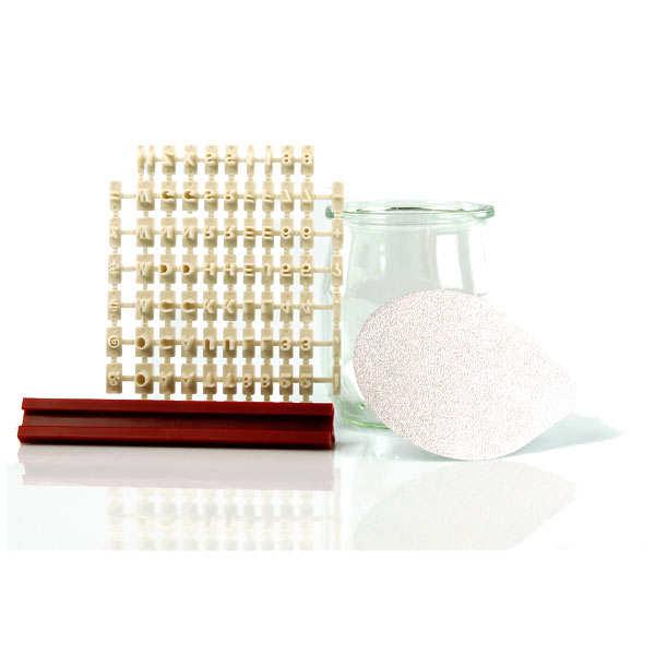 Kit de personnalisation des opercules de pots de yaourts