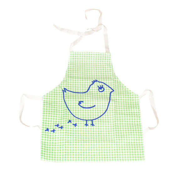 Kids' Green Coquito Chick Apron