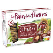 Le pain des fleurs - Crunchy organic chestnut toast, gluten free, no added sugard.