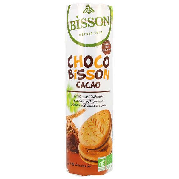 Biscuits fourrés au chocolat bio - Choco bisson cacao bio