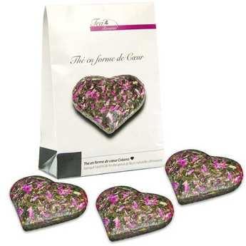 Creano - Heart shape with Amaranth flowers