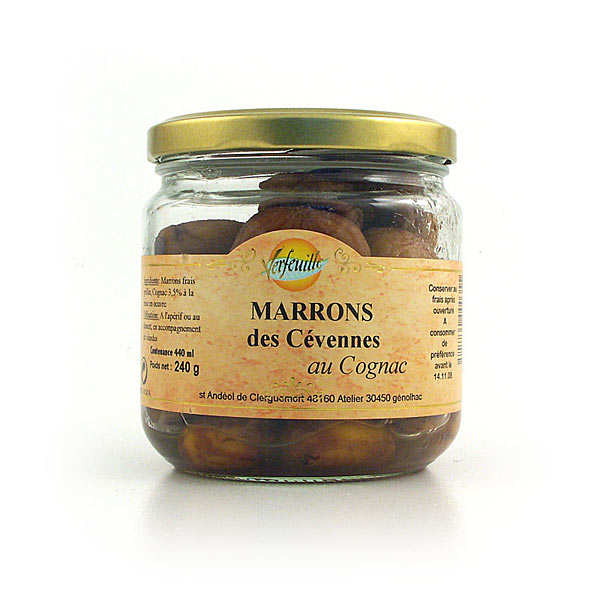 Marrons au cognac bio - bocal 240g