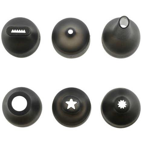 Mastrad - Set poche à douille en silicone avec support et 6 douilles
