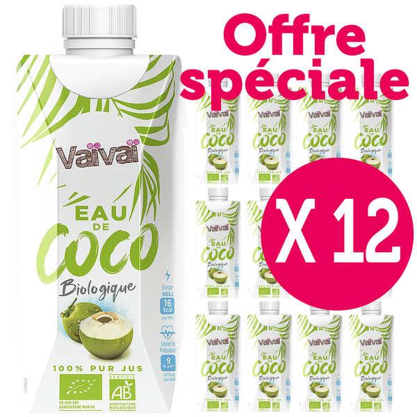 Vaïvaï – L'eau de coco 100% naturelle - Le lot de 12